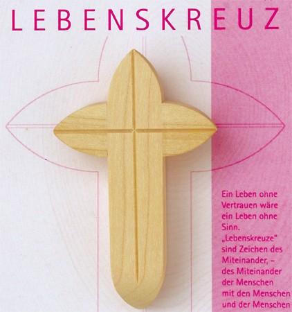 """Lebenskreuz 6 cm """"Design by Dieter Lahme"""" - ausverkauft -"""